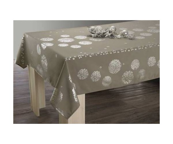 Nappes Anti Tâches Etoile Taupe 150*200